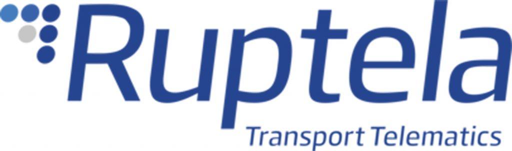 Логотип Ruptela. Международная компания, которая занимается разработкой ПО и оборудования в области транспортной телематики.